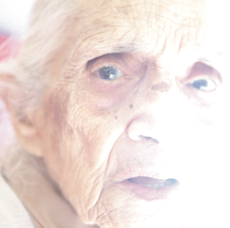 Resident was 82 years of age. She has tears in her eyes when she talked about her family. Image by Sonal Kantaria, 2012